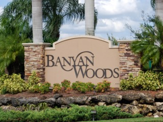 Naples Real Estate - BANYAN WOODS Main Community Photo